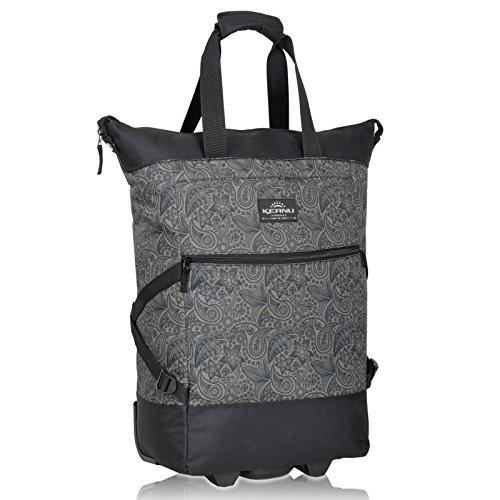 Einkaufstrolley Keanu WHEEL Trolley Shopping Damentasche Einkaufsroller Korb Shopper - Trinity - FABRAUSWAHL (Black Jacquard)