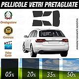 Compatibile con Audi A4 Avant dal 2009 al 2015 Pellicole Oscuramento Vetri Auto Pre Tagliate a Misura - 20%