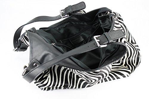 Belli, Borsa shopper donna Nero (Zebra)