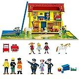 Pippi Langstrumpf Puppenhaus + Möbel + Figuren - MEGASET mit komplettem 21 tlg. Zubehör