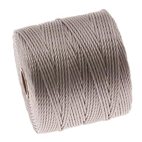Beadsmith Lot Xcr-4251Super-lon Cord 18Twisted Nylon Bobine, Argent,