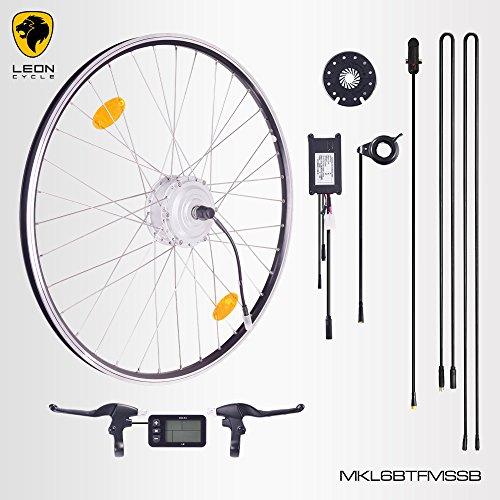"""E-Bike,Pedelec,Elektrofahrrad Conversion Kit, 36V 250W, 28"""" Zoll,Umbausatz mit MXUS Frontmotor,LCD Display, für Scheibenbremsaufnahme geeignet, mit Sinus wave Controller und Daumengashebel"""