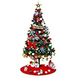 Albero di Natale artificiale con luci, stella a cinque punte, piccolo decorativo, 1,2 m (Color : Multi-colored)