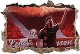Ultras Leverkusen, 3D Wandsticker Format: 92x62cm,
