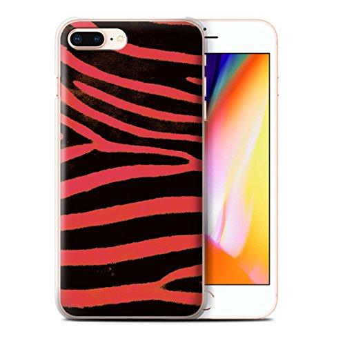 Stuff4 Hülle / Case für Apple iPhone 8 Plus / Rot Muster / Zebra Tier Haut/Print Kollektion Rot