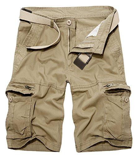Panegy Herren Sommer Outdoor Cargo Shorts Baumwolle Multi-Tasche Bermuda Casual Vintage Kurze Hose Sommerhose Sporthose Knielänge Hosen (Shorts Jungen Vintage)