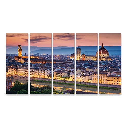 Quadri Moderni Stampa su Tela Canvas cm 100x70 Quadro Val D/'Orcia Toscana 4
