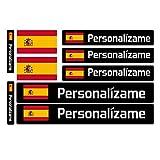 Haberdashery Online Kit 9 Adhesivos con Bandera, Texto y Color Personalizables, para Bicicletas, Motos, Coches y Otros Objetos.