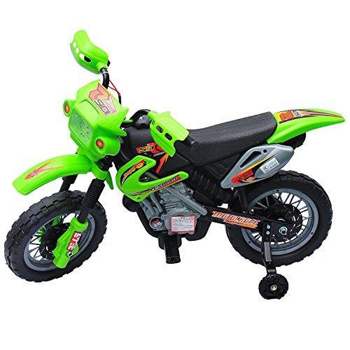 HOMCOM 52-0015 Kindermotorrad, grün