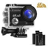 Action Camera 4K Wi-Fi Ultra HD 12MP Impermeabile Crosstour 2 Pollici LCD Obiettivo 170 Gradangolare 2 Batterie Ricaricabili 1050 mAh + Accessori immagine