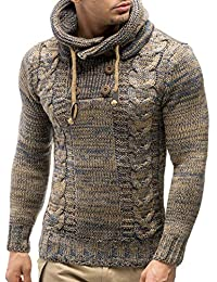 a29d4ce1c43a Kenancy Herren Pullover Hoodie Kapuzenpullover Strickpullover Langarm  Sweater Sweatshirt Pulli