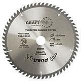 Trend CSB/19060 TREND CSB/19060 Craft Saw Blade 190mm X 60 Teeth X 30mm - Silver