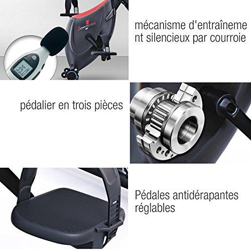 Sportstech Vélo d'Appartement F-Bike X100-B 4-en-1 Home Trainer Vélo d'intérieur, X-Bike pour Adulte, poignées avec cardiofréquencemètre, Cordes de Traction, Support pour Tablette, Dossier inclinable