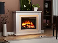 Castleton Electric Fireplace Suite Glass fronted