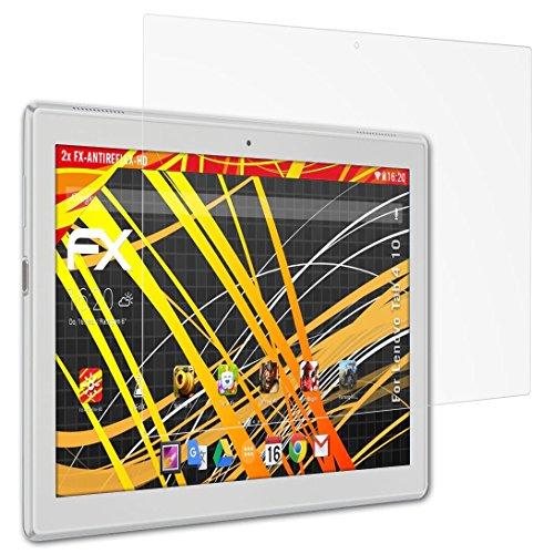 atFolix Schutzfolie kompatibel mit Lenovo Tab 4 10 Bildschirmschutzfolie, HD-Entspiegelung FX Folie (2X)