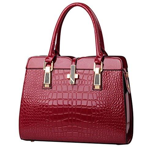 LaoZan Le Donne Della Borsa Borse A Spalla In Da Donna Borse Messenger Bag Totes Rosso Vino Rosso