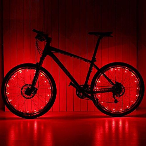 20 Zwei-licht (Ailiebhaus Fahrrad Licht 20 Led Rad Speichen Wasserdichte Speichenlicht ,2 Optionen vom Lichtmodus)