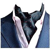 YCHENG Ascot Uomo Foulard in Seta Moda Paisley Floral Regalo Perfetto Fazzoletti da Collo D10 46'*6'