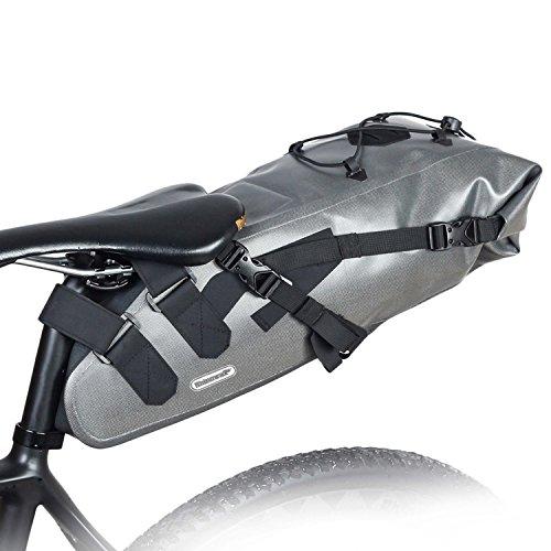 Selighting Satteltasche Wasserdicht Fahrradtasche für Rennrad Mountainbike um Rücklicht zu hängen (Grau)