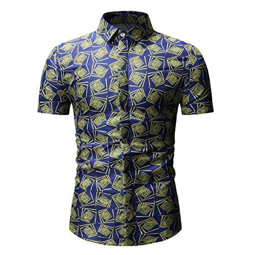 Tab Sleeve Plaid Shirt (Modaworld Shirt Herren T-Shirt Herren Plaid Pocket Shirt Neue Herren Slim Kurzarmhemd Herren Crop Top)
