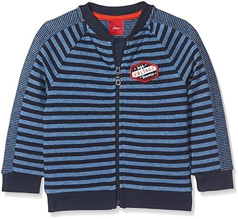 s.Oliver Baby-Jungen Spieler Sweatshirt-Jacke Blau (Medium Blue Stripes 53G8), 86