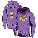 Hanbao Homme Sweat à Capuche de Basket-Ball NBA Lakers 8# Kobe Bryant Sweat-Shirt de Basket-Ball Pull à Capuche