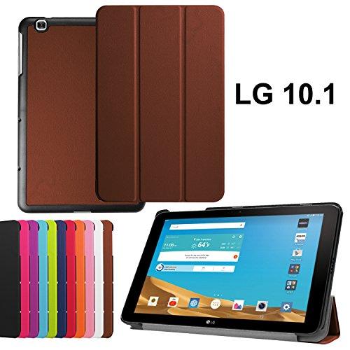 asng LG G Pad X 10.1Case-Ultra Slim Leicht Standing Cover für LG G Pad 225,7cm (V940)/LG G Pad X 25,7cm (4G LTE at und T V930) Android 2015Tablet Braun