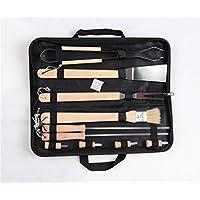 Meao 10 pezzi in acciaio inox Barbecue Set - Professionale Griglia per BBQ Kit (Cucina All'aperto Bbq Accessori Grill)