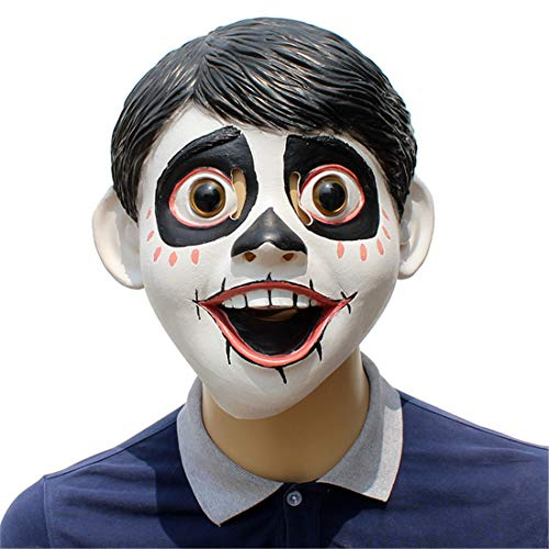 VJUKUBWINE Träumen Sie Um Die Coco Little Boy Maske Halloween Dekoration Kostüm Maske Cosplay Volle Kopfmaske Latex Fire Wolf (Michael Myers Kid Clown Kostüm)