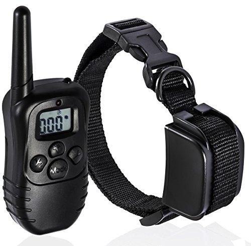 Traxandco collares de adiestramiento para perros con control a distancia de 300 metros,3 modelos 1 a 1, color negro