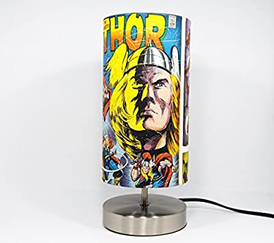 Marvel Avengers Action Heroes Lamp with lampshade.