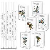 SET: 6 stylische leere DIN A4 Kontinent Reisetagebücher: Asien Afrika Australien Europa Nordamerika Südamerika Bücher blanko Notizbuch Tagebuch als Geschenk-SET je 164 Seiten