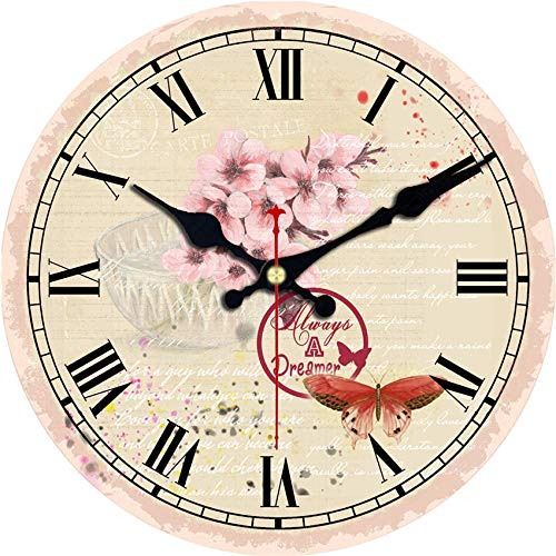 lujiangfeiA Wanduhr Fantasy Wandkunst DIY große Wanduhr unter dem Meer Party gefallen übergroße Wanduhr Ocean Beach House Decor(14inch) (Decor Pariser Party)