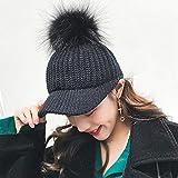 Lnyy Hut-Frühling und Winter Mode hundert Fahrt Baseball Cap Mode einfach gestrickte Mütze Temperament Damenhut