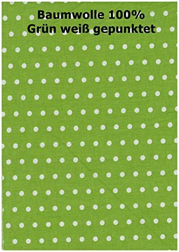 iffland MERINO EUROPA Bezug für Seitenschläferkissen 100{57f7927c501de6c124f03e9a824bcf96423cc5df2b0eb495616841c943e2639b} Baumwolle passend zu Kissen von heimtextilmanufaktur (160, grün mit weißen Punkten)