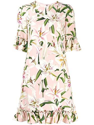 DOLCE E GABBANA Damen F6e3gtfsrljhfkk8 Rosa Viskose Kleid - Dolce Gabbana Kleid Schuhe
