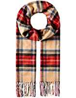VB Scarf - classic tartan pattern - fringed, soft like cashmere