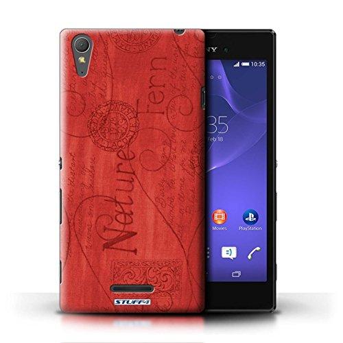 Kobalt® Imprimé Etui / Coque pour Sony Xperia T3 / Orange / Bleu conception / Série Motif Nature Rouge
