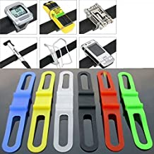 SODIAL(R) 2pcs Ciclismo para bicicleta de silicona elastica correa de caucho vendaje corbata Linterna Titular