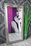 Spiegel Wandspiegel RACHEL antik silber Barock 100 x 50 cm - 5