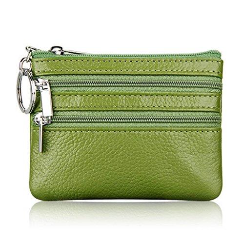 Dairyshop Borsa donna Portafoglio, Borsa di promozione della borsa moneta del cuoio delle donne (Nero) Verde