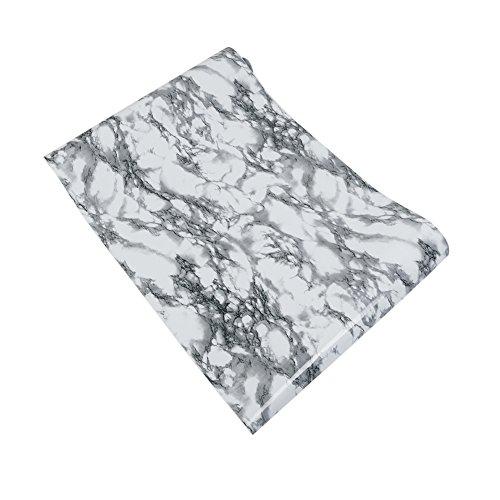 Zorazone Marmor-Effekt Counter Top Mesa Aufkleber Selbstklebende Peel und Stick Wallpaper Granit Look Natur Kunst Decals 61 x 500CM (schwarz-weiß) (Zimmer Peel)