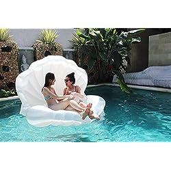 Beach Toy ® - Flotador para piscina en forma de CONCHA, con perla (balon), Mega fun Party
