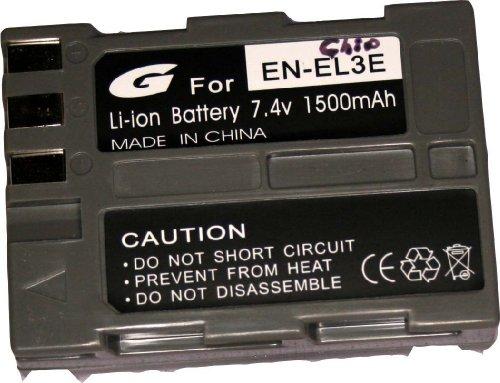 Bilora  GPI 653-1 Li-Ion Akku für Nikon EN-EL3e mit Chip