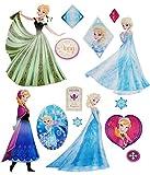 alles-meine.de GmbH 15 tlg. Set _ Wandtattoo / Sticker -  Disney die Eiskönigin / Frozen  - Wand..