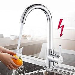 BONADE 360° Drehbar Niederdruck Wasserhahn Niederdruck Mischbatterie Küchenarmatur