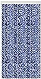 Arsvita Flausch-Vorhang (56x180 cm) in der Farbe: Blau-Weiß-Silber, Viele Weitere Größen erhältlich
