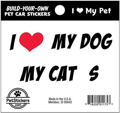 Ich liebe mein Haustier - erstellen Sie Ihre eigenen Aufkleber-Set (Sie Erstellen Ihre Aufkleber Eigenen)