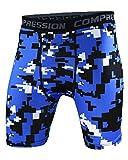 Herren Kompression Hosen Workout Laufen Leggings Druck Strumpfhosen Tights Joggingpants Style 15 S