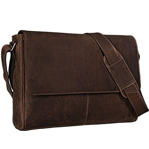 Uomo Borsa Stilord Donna Pelle A 'oskar' Vintage Bag Messenger wAfHI0qA